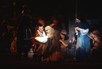 Vladimir Popov as Calaf, Victor Shost as Timur, Cristina Gallardo-Domas as Liu, ensemble. Cast 1