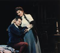 Marcello Giordani as Rodolfo, Helen Donath as Mimi. Cast 1