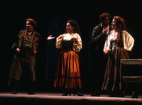 Thomas R. Trotter as Le Remendado, Irina Mishura as Carmen, Scott Cheffer as Le Dancairo, Samia Bahu as Frasquita. Cast 1
