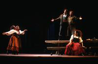 Irina Mishura as Carmen, Barbara Scherrer as Mercedes, Scott Cheffer as Le Dancairo, Thomas R. Trotter as Le Remendado, Samia Bahu as Frasquita. Cast 1