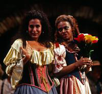 Samia Bahu as Giannetta, Janet Williams as Adina. Cast 1