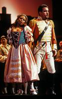 Janet Williams as Adina, Richard Bernstein as Belcore. Cast 1
