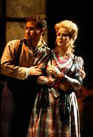 Mariusz Kwiecien as Marcello, Karen Driscoll as Musetta. Cast 1