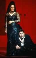 Irina Mishura as Carmen, Hugh Smith as Don Jose. Cast 1