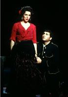 Hugh Smith as Don Jose, Irina Mishura as Carmen. Cast 1