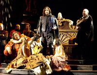 Gordon Hawkins as Rigoletto, Massimo Giordano as Duke of Mantua, Torrance Blaisdell as Matteo Borsa. Cast 1