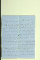 Letter from James Van Riper to N[?]. W. Van Riper, September 29, 1855