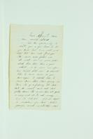 Letter from Silas Van Riper to Willis Van Riper, April 1860