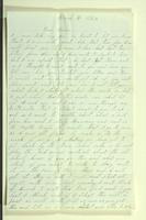 Letter from John Van Riper to Henry Van Riper, March 1862