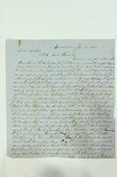 Letter from G. Van Riper to Nick Van Riper and family, January 28, 1866
