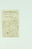 Letter from Josh Benster to Mr. Van Riper, February 10, 1868