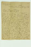 Letter from Joshua G. Benster to Willis Van Riper, April 7, 1886