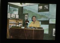 Air Force Captain Dennis G. Cooper at Desk.