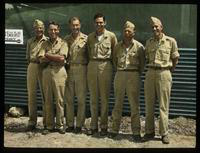 Dennis Cooper (Third from Left) with Five Air Force Officers