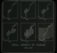 View of an Areal Growth of Saginaw, 1830-1930