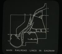 View of the Main Railroad Lines in Saginaw, Michigan