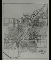 View of a Map of Saginaw, Michigan in1930