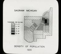 View of the Density of Population of Saginaw, Michigan in 1930