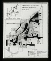View of a Land Utilization Map, Saginaw, Michigan, 1932-1933