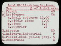 View of Land Utilization Information of Saginaw, Michigan