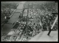 Aerial view of Saginaw, Michigan