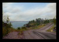 View of a Dirt Road and a Lake on Isle Royale, Michigan