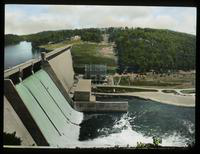 View of a Dam and Forest