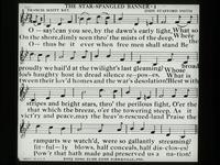 View of the Printed Lyrics of The Star Spangled Banner