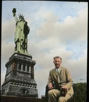 Dennis Cooper at the Statue of Liberty