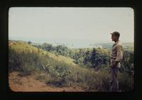 View of a Soldier Looking Out at Road