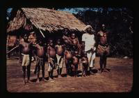 View of Villagers in New Guinea