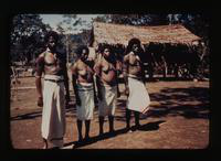 View of Four Villagers in New Guinea