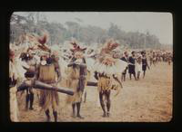 View of a Tribal Ceremony in New Guinea