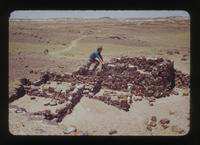 View of a Man at Agate House at the Petrified Forest