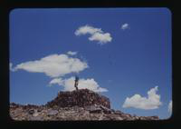 View of Dennis Cooper Standing Atop a Wall of the Agate House