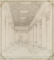 Detroit Public Library: Perspective View of Entrance Hall