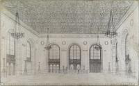 Detroit Public Library: Perspective View of Delivery Hall