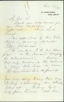 Letter from Florence Nightingale to Lt. Gen. Fife requesting a meeting with him
