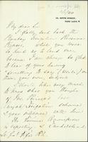 Letter from Florence Nightingale to Lt. Gen. Fife asking for his opinion on topics