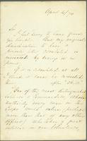 Letter from Florence Nightingale to Christopher Lordan, Esquire, asking for revision of a private letter made public