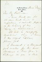 Letter from Florence Nightingale to Mr. Rawlinson about his review of her publication