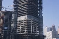 View of a portion of the Renaissance Center during construction