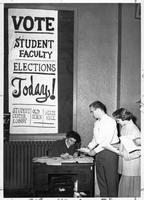 Vote Student Faculty Elections Today Student center Lobby, Old Main, State Hall.