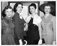 Four Homecoming Queen finalists in 1956.