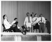 Aesculapius Frolic 1959, Senior Skit. Men perform on a stage.