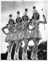 Sister Majorettes Jackie & Karol Kurkie (sp?) and Eileen & Raoma (sp?) Bayliss.