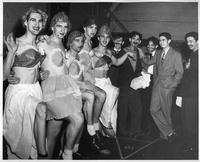 Star 'n Tartar Review (left to right) Chorus Line -- Jin Karolionok, Bruce Roberts, Joe Rzepka, Lee Roberts, Bill Hobbs. Professors -- Leonard Moore, Sid Feldsteen, Vlad Andre, David Hoptman, Carl Teicher