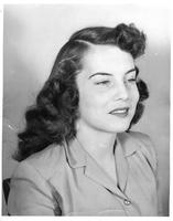 Portrait of June Simes, Homecoming Queen 1946.