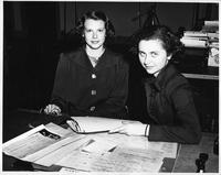 Collegian, (left) Betty de Wolff and Isabelle