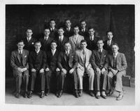 A group portrait of the Arab Fraternity members, 1935.